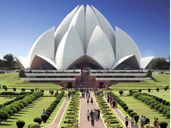 Baha'i House of Worship in New Delhi, India.